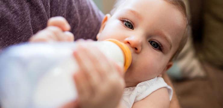 human milk in a bottle