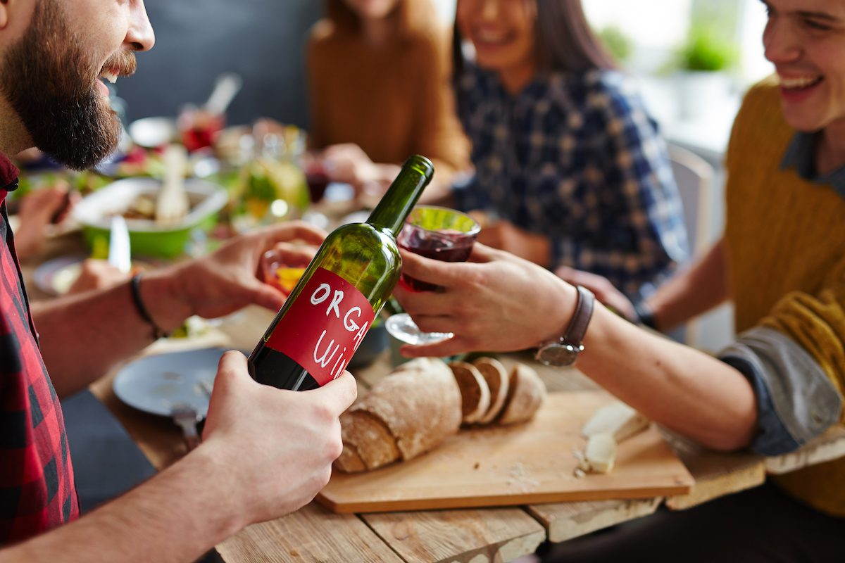 Treating high blood pressure with wine