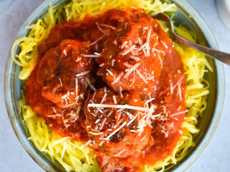 Spaghetti Squash Spaghetti and Turkey Meatballs | El Paso TX