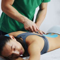 Kinesiology, Kinesio, KT, Elastic Tape For Back Pain